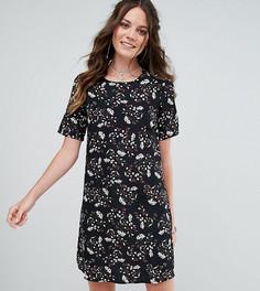 Чайное платье с цветочным принтом в стиле гранж Glamorous Tall - Черный