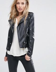 Куртка из искусственной кожи со звездами Supertrash Jars - Черный