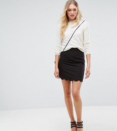 Юбка‑трапеция мини с фигурным краем ASOS TALL Tailored - Черный