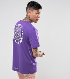 Свободная фиолетовая футболка с принтом Puma эксклюзивно для ASOS - Фиолетовый