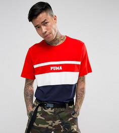 Красная футболка в стиле колор блок Puma эксклюзивно для ASOS - Красный