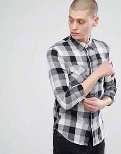Черная клетчатая рубашка в стиле вестерн Lee Jeans - Черный