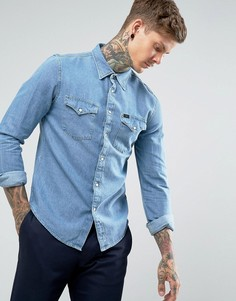 Джинсовая рубашка в стиле вестерн Lee Jeans - Синий