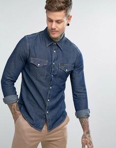 Джинсовая рубашка в стиле вестерн Lee Jeans - Темно-синий