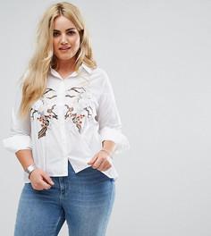 Свободная рубашка с завязками и вышивкой Alice & You - Белый