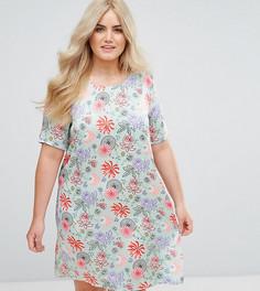 Платье с ярким цветочным принтом Alice & You - Зеленый