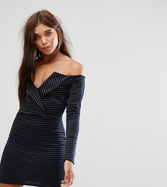 Платье мини с открытыми плечами Missguided - Темно-синий