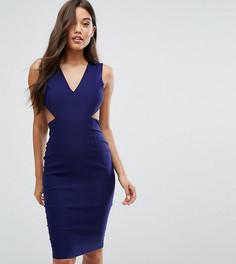 Платье миди с вырезами и открытой спиной Vesper - Темно-синий
