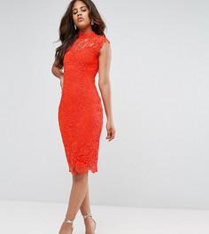 Ажурное платье-футляр с высоким воротником Paper Dolls Tall - Оранжевый