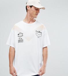 Белая футболка с принтом Cheap Monday - Белый