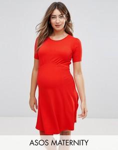 Чайное платье мини ASOS Maternity Ultimate - Красный