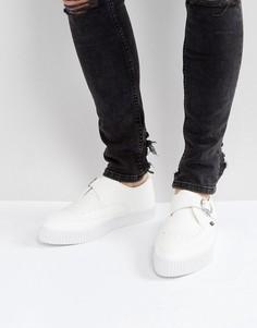 Криперы из веган-кожи с острым носком и пряжками T.U.K - Белый TUK