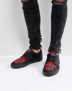 Парусиновые кроссовки с принтом тартан T.U.K - Черный TUK
