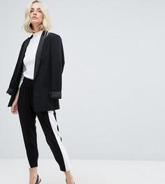 Широкие брюки с полосками по бокам ASOS PETITE - Мульти