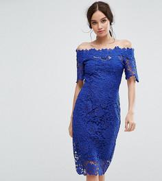 Кружевное платье миди Paper Dolls - Синий