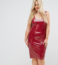 Блестящее облегающее платье Club L Plus - Красный