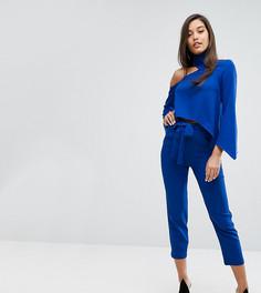 Комбинируемые строгие брюки с поясом Parallel Lines - Синий