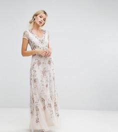 Декорированное платье макси Amelia Rose - Бежевый