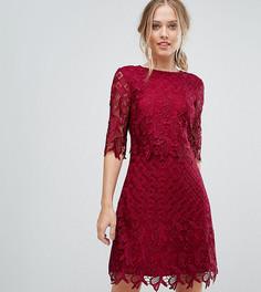 Свободное кружевное платье Little Mistress - Красный
