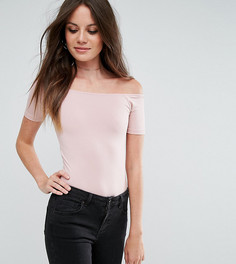 Боди с открытыми плечами и короткими рукавами ASOS TALL - Розовый