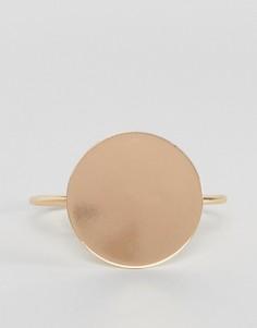Браслет-манжета с круглой отделкой ASOS - Золотой
