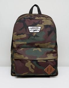 Камуфляжный рюкзак Vans Old Skool II V00ONI97I - Зеленый