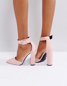Телесные туфли на каблуке Glamorous - Бежевый