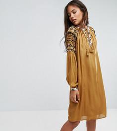 Платье в этническом стиле с вышивкой Y.A.S Tall - Черный