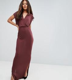 Платье макси с запахом Y.A.S Tall - Коричневый
