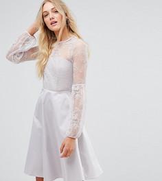 Платье с пышными рукавами Y.A.S Tall - Серебряный