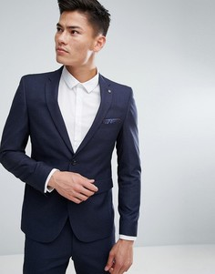 Облегающий пиджак Burton Menswear - Темно-синий