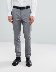 Серые брюки слим в клетку Burton Menswear - Серый