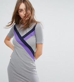 Платье-футболка с полосками Monki - Серый