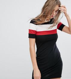 Платье-футболка с полосками Monki - Черный