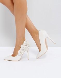 Бежевые туфли-лодочки с эффектом 3D True Decadence - Кремовый
