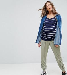 Трикотажные широкие брюки ASOS Maternity - Зеленый
