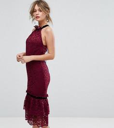 Кружевное платье с оборкой по краю Hope & Ivy - Красный