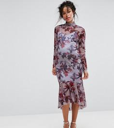 Платье с длинными рукавами и цветочным принтом Hope & Ivy Maternity - Мульти