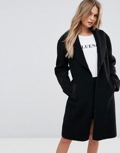 Пальто из искусственного меха New Look - Черный