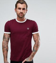 Фиолетовая узкая футболка с отделкой лентой на рукавах Fred Perry Sports Authentic - Красный