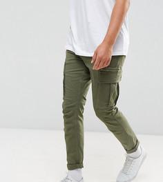 Брюки-карго слим Selected Homme - Зеленый