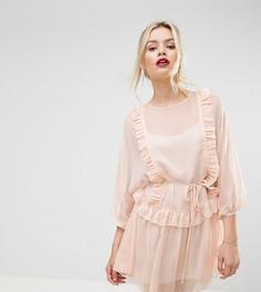 Эксклюзивное платье мини с оборками Stevie May Whistlers - Розовый