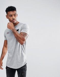 Серая обтягивающая футболка с нашивками Good For Nothing - Серый