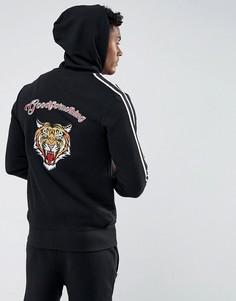Худи черного цвета с вышитым тигром на спине Good For Nothing - Черный