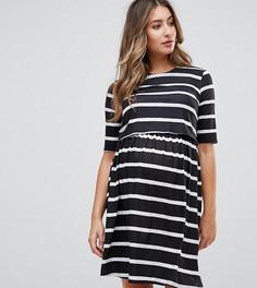 Двухслойное платье в полоску ASOS Maternity NURSING - Мульти