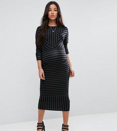 Платье в шевронную полоску ASOS Maternity - Мульти