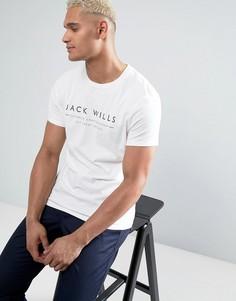 Белая футболка с принтом Jack Wills Westmore - Белый