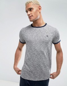 Серая футболка Jack Wills Baildon Ringer - Серый
