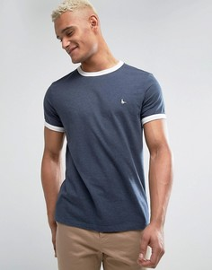 Темно-синяя футболка Jack Wills Baildon Ringer - Темно-синий