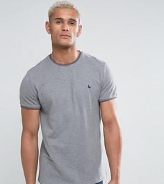 Серая узкая футболка из пике с контрастной отделкой Jack Wills Gunnersbury - Серый